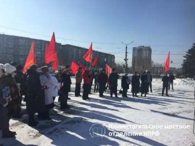 Митинг в Дзержинском районе состоялся несмотря на мороз